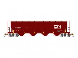 Canadian National - Cylindrical Grain Hopper w/FRED