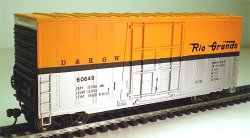 40' Hi Cube Box Car - Undecorated/Black ( HO Scale )