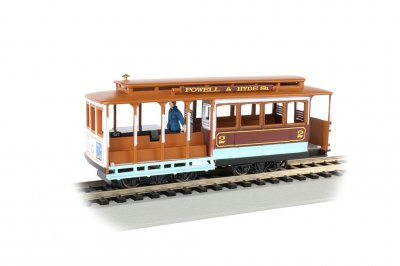 Maroon & Tan - Cable Car with Grip Man