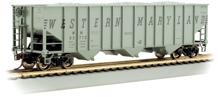 Western Maryland® #63834 - Beth Steel 100 Ton 3 Bay Hopper - Click Image to Close