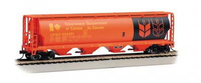 Government of Canada - Red - 4 Bay Cylindrical Grain Hopper