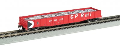 "CP Rail - 50'6"" Drop End Gondola w/ Crushed Cars Load"