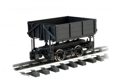 Side-Dump Car - Black (Large Scale)