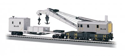 Maintenance of Way - 250-Ton Steam Crane & Boom Tender(HO Scale)