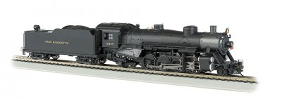Pere Marquette #2378 Light 2-8-2 w/Long Tender - DCC Ready (HO)