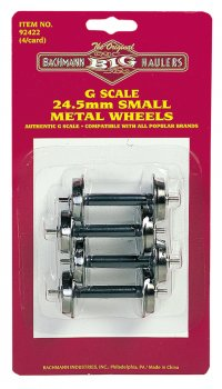 Small Metal Wheel Set (4 per card) (Large Scale)
