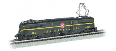 PRR GG-1 #4807 – Brnswck Green Single Stripe DCC Sound (N Scale)
