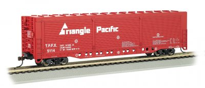 Triangle Pacific - Evans All-Door Box Car (HO Scale)