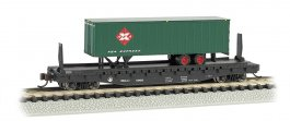 B&O® 52ft flat car w/Railway Express Agency 35ft Trailer