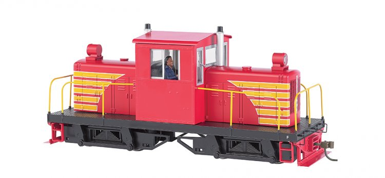 Painted unletterd - red w/ yellow- Whitcomb 50-Ton DCC - Click Image to Close