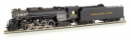 Chesapeake & Ohio® Kanawha #2718-DCC Sound (HO 2-8-4 Berkshire)
