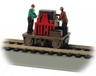 Gandy Dancer Operating Hand Car - Red