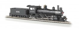Santa Fe #498 - Baldwin 4-6-0 - DCC Sound Value (HO Scale)