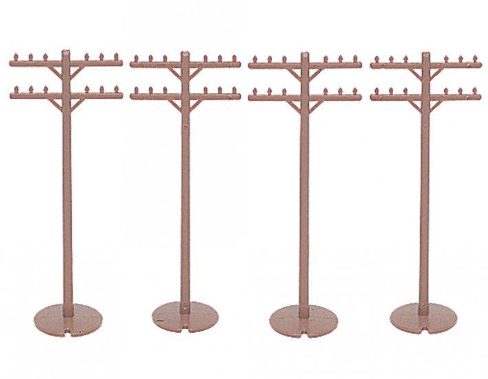 Telephone Poles (12 pieces) - Click Image to Close