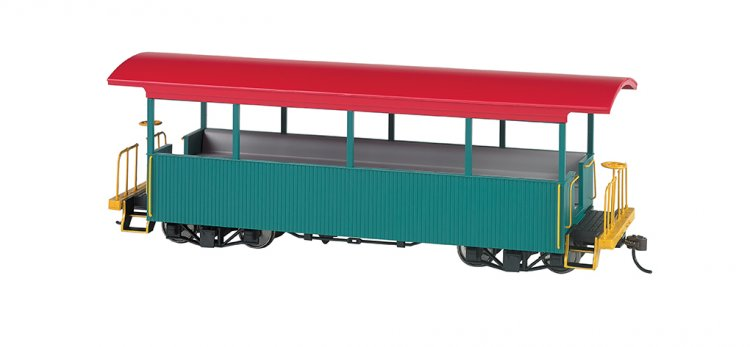 Green w/ Red Roof - Excursion Car - Click Image to Close