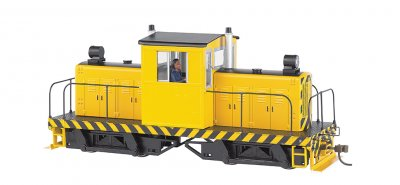 Painted unletterd - yellow w/ black stripes Whitcomb 50-Ton DCC