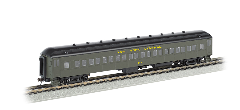 NYC® #854 (green & yellow) - 72' Coach (HO Scale)