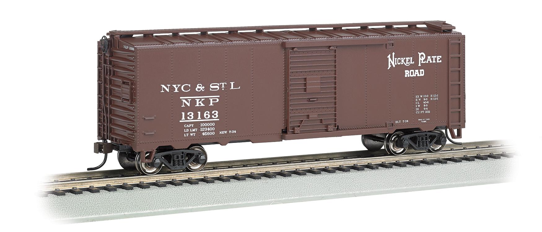 Details about  /HO Scale Bowser 42728 Nickel Plate Road NKP 1640240/' Single-Door Steel Boxcar