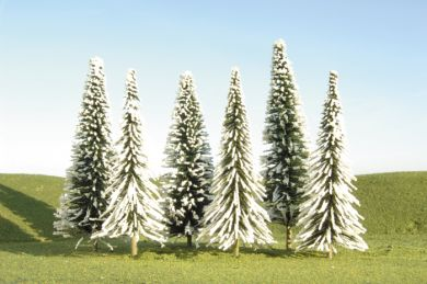 "4"" - 6"" Pine Bulk Trees with Snow (24 per Bag) - Click Image to Close"