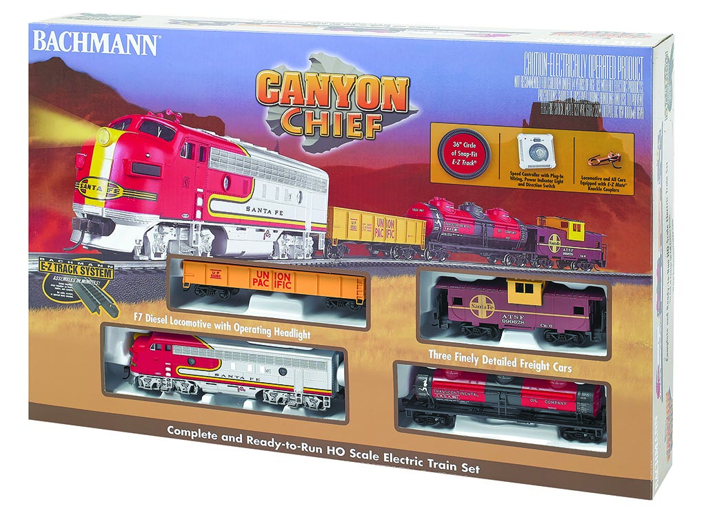 BAC00740 Bachmann Industries HO Canyon Chief Train Set