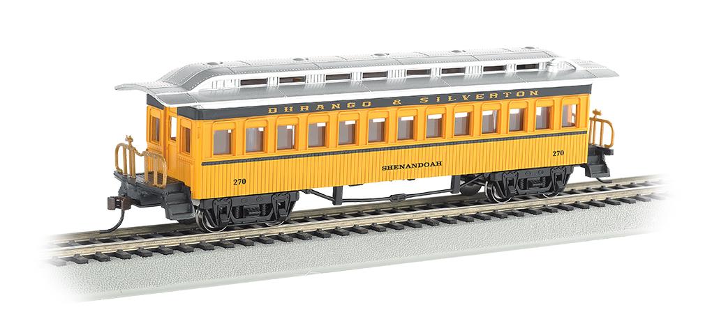"""Bachmann 13408 HO 1860 1880 Wood Coach Series Durango & Silverton #257 """"Shenandoah"""" 160-13408"""