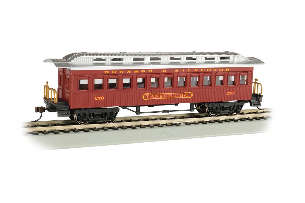 Bachmann 13409 HO 1860 1880 Wood Coach Series Durango & Silverton #270 Yankee Girl