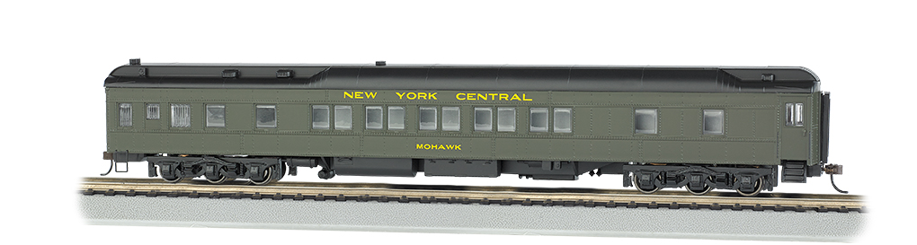 Bachmann 13904 HO 80' Heavyweight Pullman Sleeper w/LED Lighting New York Central