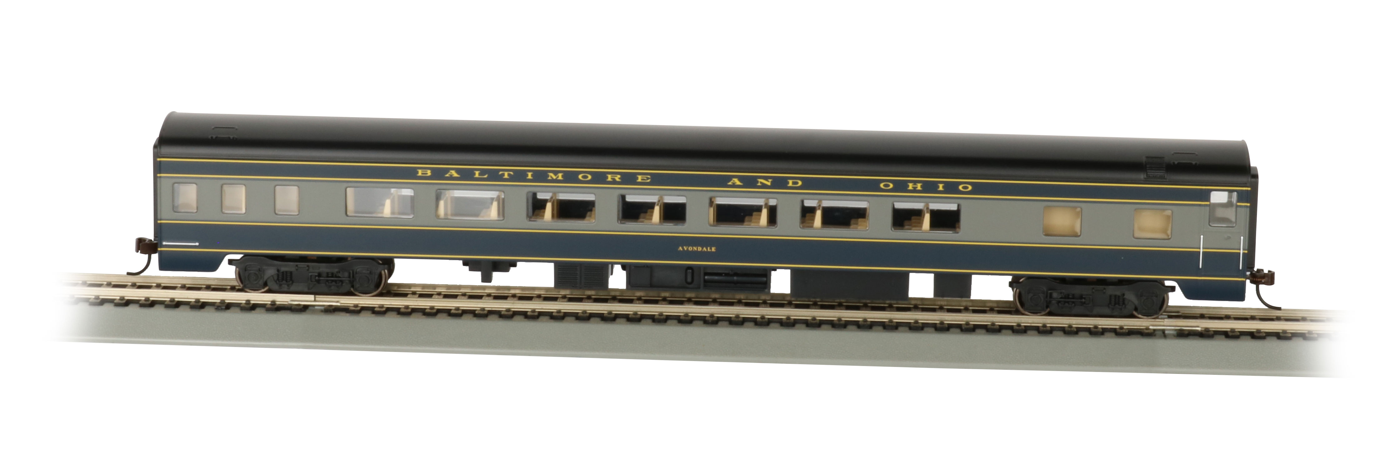 Bachmann 14203 HO 85' Smooth-Side Coach w/Lights Baltimore & Ohio