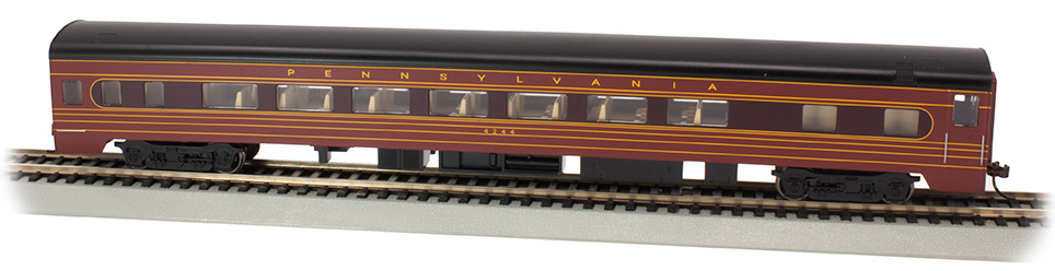 PRR #4244 - Fleet of Modernism Smooth-Side Coach w/Lighted Intr