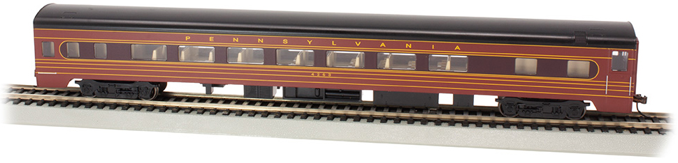 PRR #4263 - Fleet of Modernism Smooth-Side Coach w/Lighted Intr