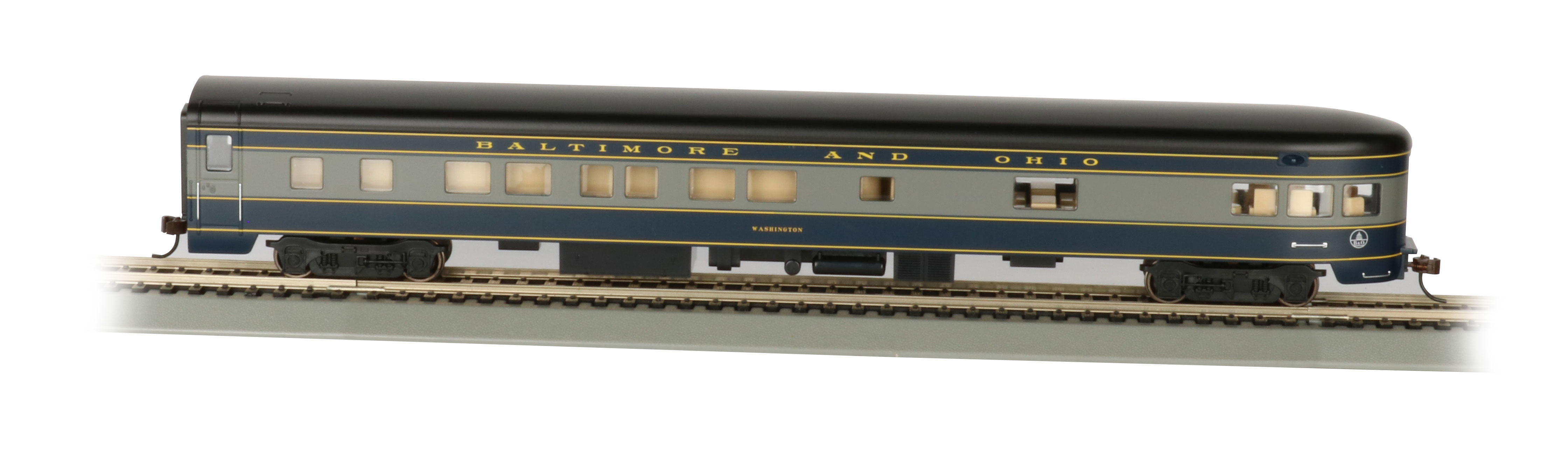 B&O® Smooth-Side Observation Car w/ Lighted Interior (HO)