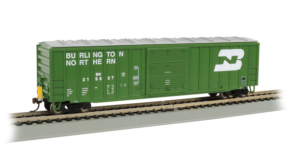 50' Outside Braced Box Car with FRED - Burlington Northern