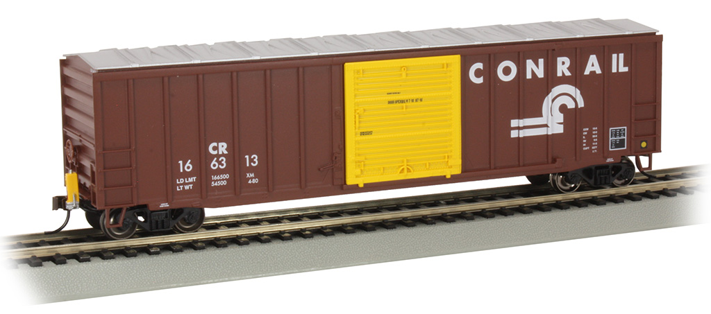 50' Outside Braced Box Car with FRED - Conrail #166313