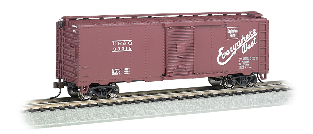 BAC15003 Bachmann Industries HO 40' Steam Era Box CB&Q 160-15003