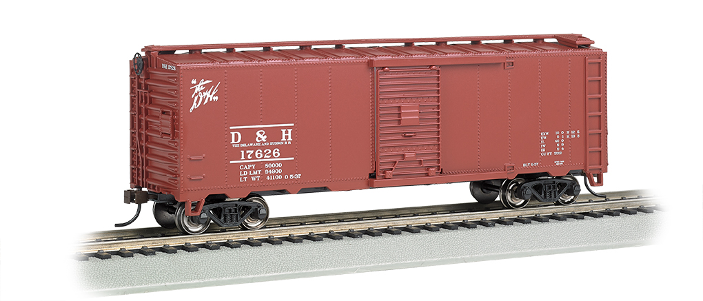 BAC15005 Bachmann Industries HO 40' Steam Era Box D&H 160-15005