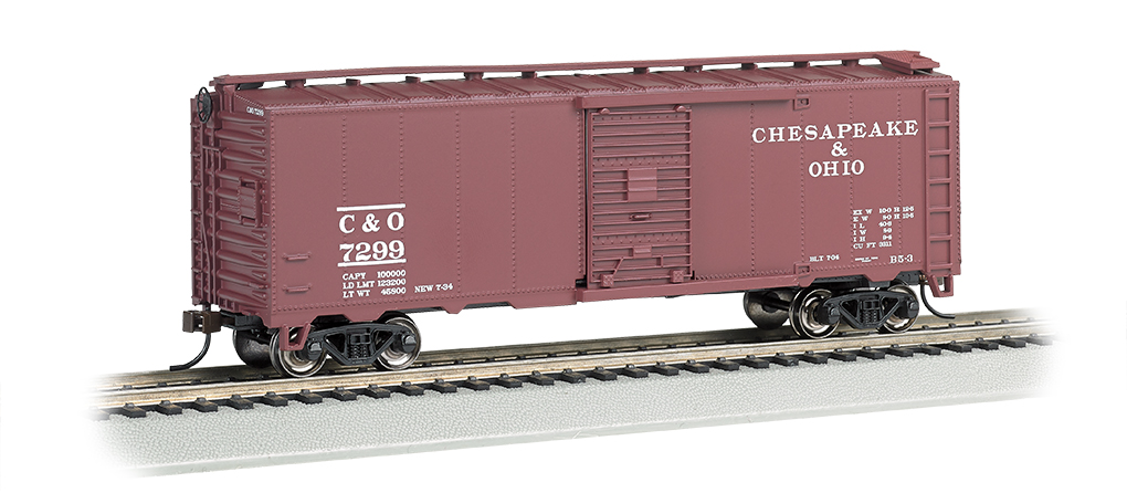 Chesapeake & Ohio® - Steam Era 40' Box Car (HO Scale)