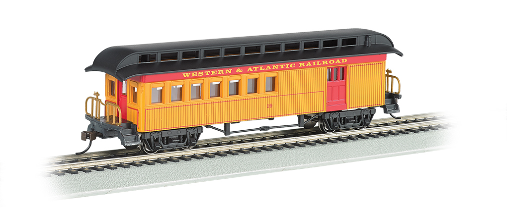 Bachmann 15201 HO Old Time Wood Combine w/ Round-End Clerestory Roof Western & Atlantic 160-15201