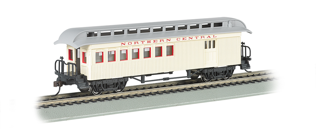 Bachmann 15203 HO Old Time Wood Combine w/ Round-End Clerestory Roof Northern Central