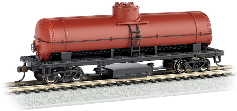 Unlettered - Oxide Red - Track-Cleaning Single-Dome Tank Car