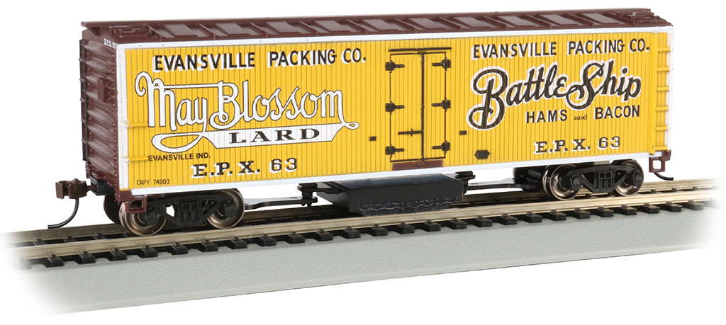 Evansville Packing - Track-Cleaning 40' Wood-Side Reefer