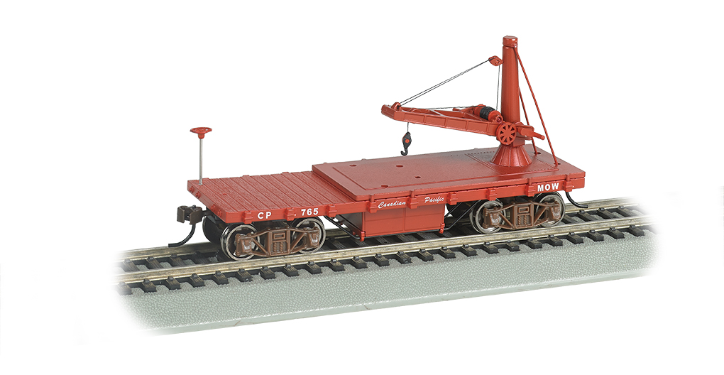 Bachmann 16417 HO Old Time Derrick Car Canadian Pacific
