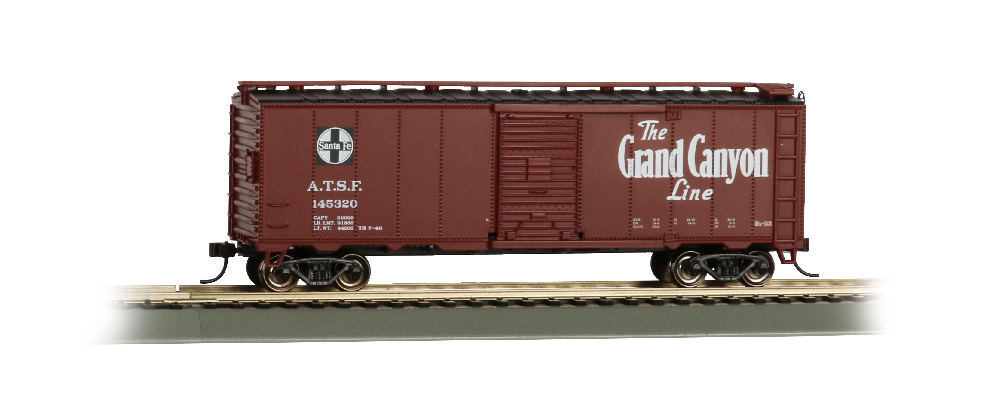 Grand Canyon 40' Santa Fe Map Box Car (HO Scale)