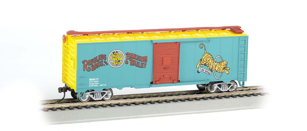Ringling Bros. & Barnum & Bailey - 40' Tiger Box Car #17 (HO)