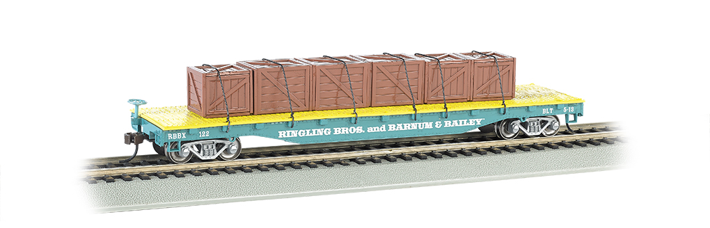 Ringling Bros. & Barnum & Bailey™ - Flat Car w/ Crates, Blue
