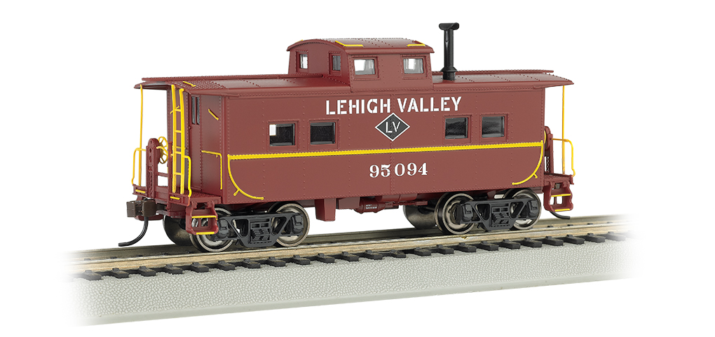 Lehigh Valley #95094 - NE Steel Caboose (HO Scale)