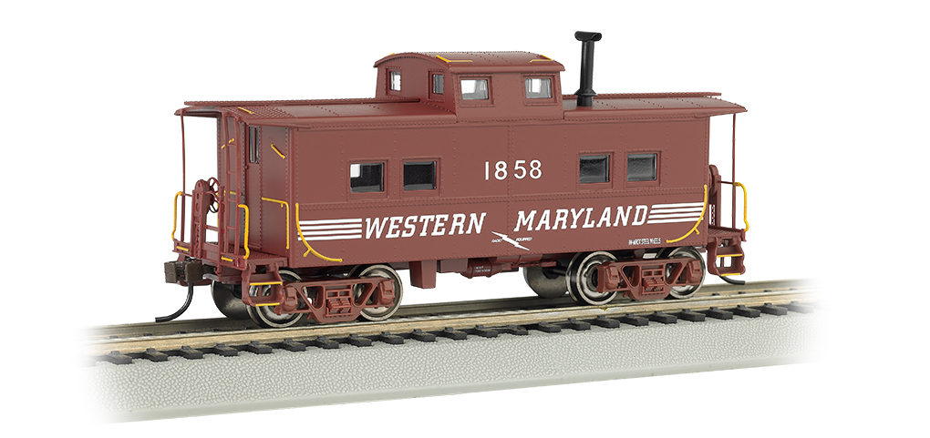 Western Maryland® #1858 (Speed Lettering) - NE Steel Caboose (HO