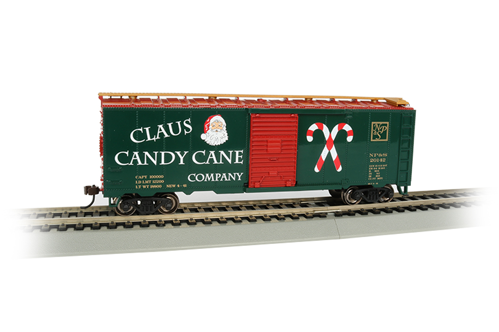 Claus Candy Cane Co. - 40' Box Car (HO Scale)