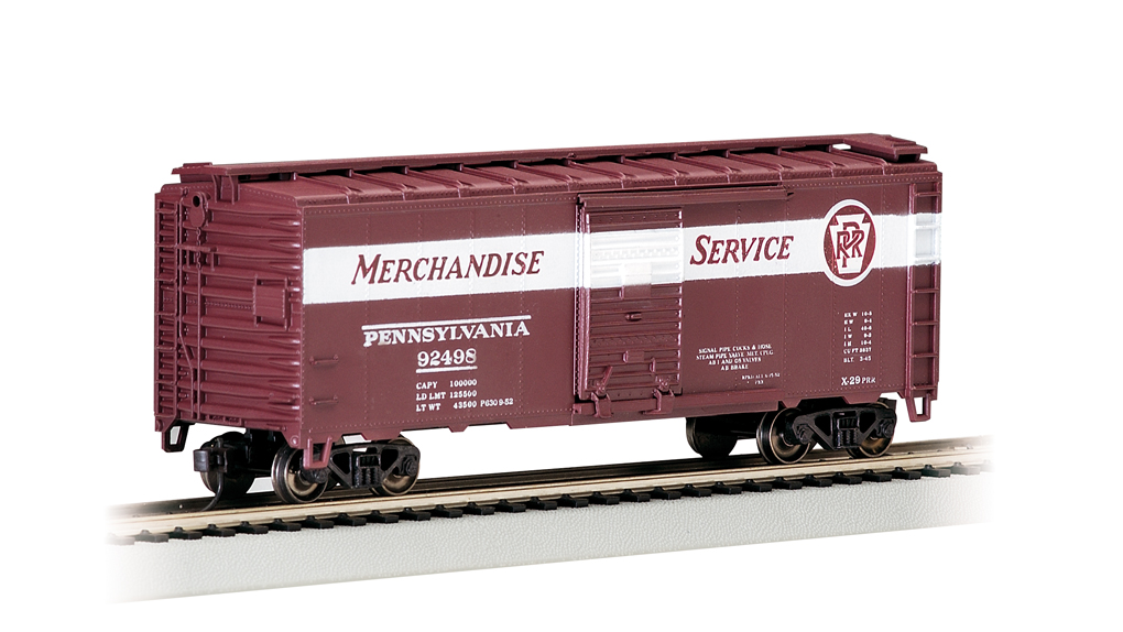 Prr Merchandise Service 40 Box Car Ho Scale 17014 33 00 Bachmann Trains Online Store