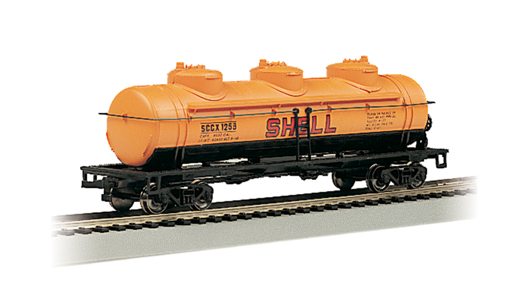 Shell #1253 - 40' Three Dome Tank Car (HO Scale)