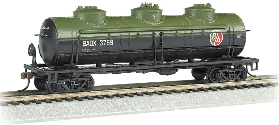 BAC17102 Bachmann Industries HO 40' 3-Dm Tank BAOX #3769 160-17102